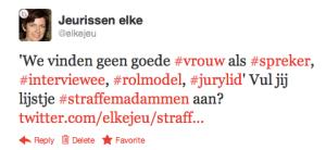 tweet straffe madammen